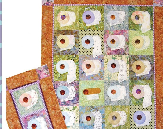 We're On A Bigger Roll from Java House Quilts. Quilt and Table Runner Pattern Only APPILIQUE