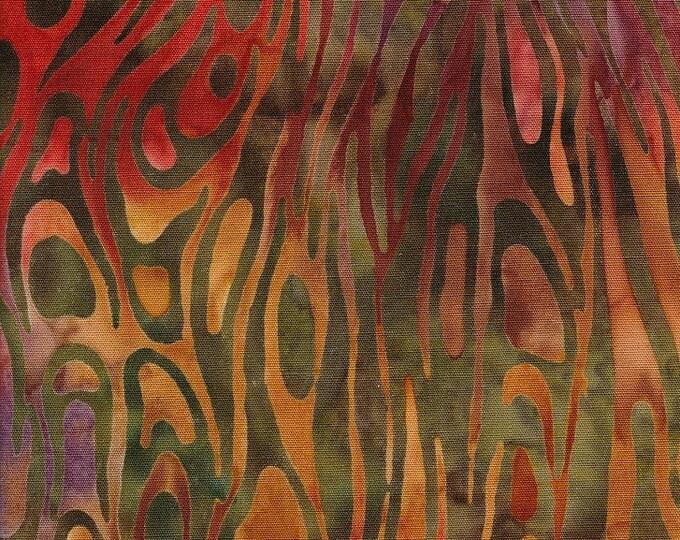 "Nutmeg 900   by Majestic Batiks   100% Cotton 44/45"" Wide Fabrics"