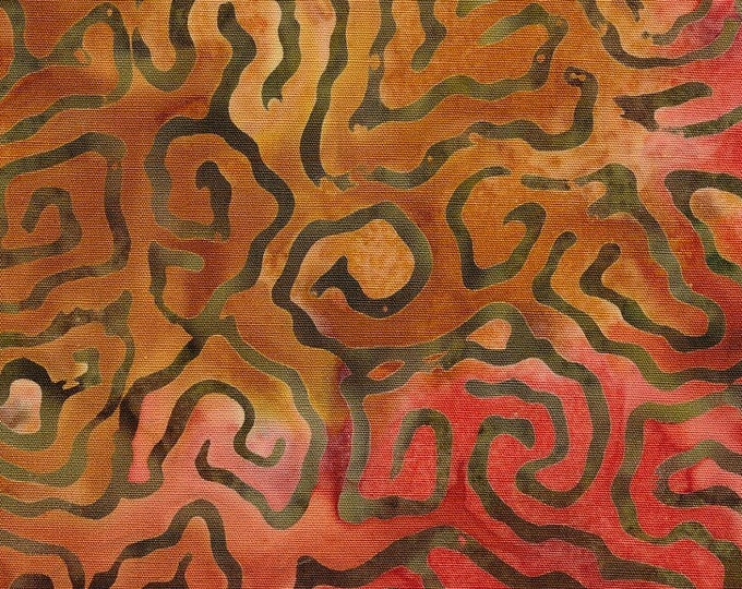 "Nutmeg 901  by Majestic Batiks   100% Cotton 44/45"" Wide Fabrics"