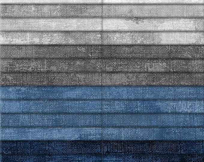 """Cold Snap By Wilmington Prints  - 40  2.5"""" strips From the Dry Brush Line 100% cotton"""