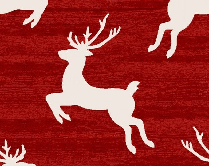 """Home for the Holidays Reindeer by  3 Wishes   44"""" wide 100% Cotton Fabric"""