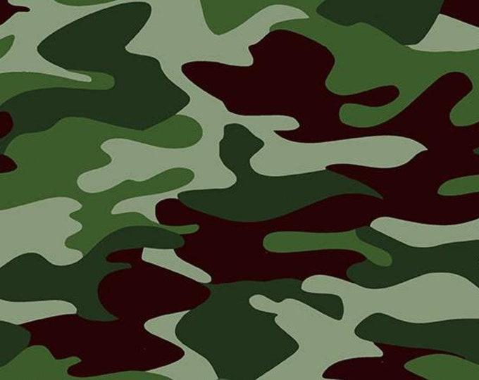 "Green Camo - Nobody Fights Alone by Riley Blake  C10420  100% Cotton 44/45"" Wide Fabrics"