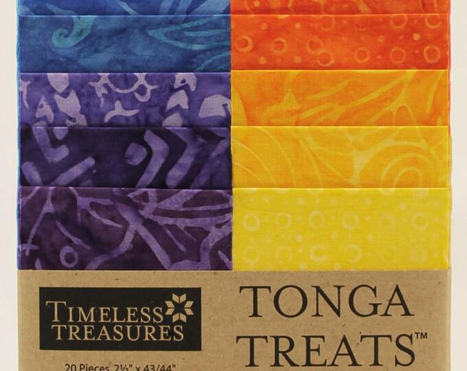 "Tonga Treats by Timeless Treasures - 20  2.5"" Batik strips  100% cotton"