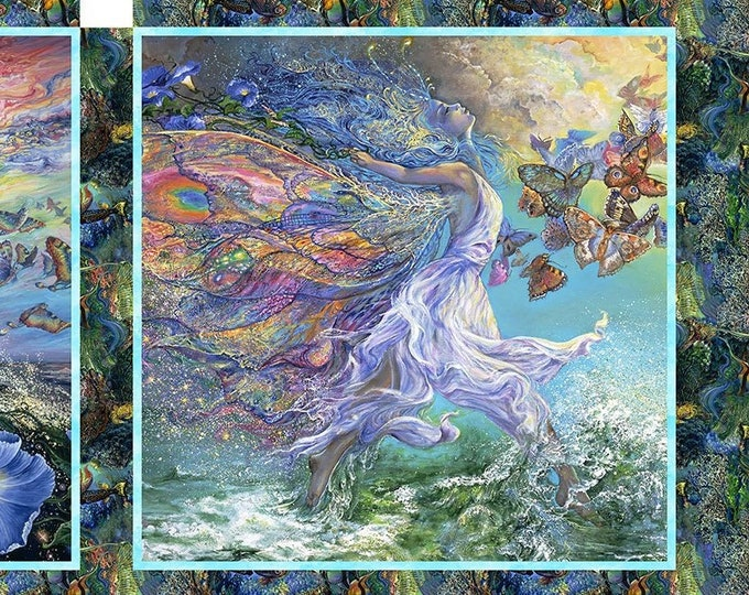 """Call of the Sea Pillow Panel by Josephine Wall for 3 Wishes 36"""" Panel   44"""" wide 100% Cotton Fabric  (#34)  **NOT A  PUZZLE**"""