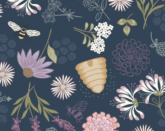 """Queen Bee Floral  by Lewis and Irene Ltd   44"""" wide 100% Cotton Fabric"""