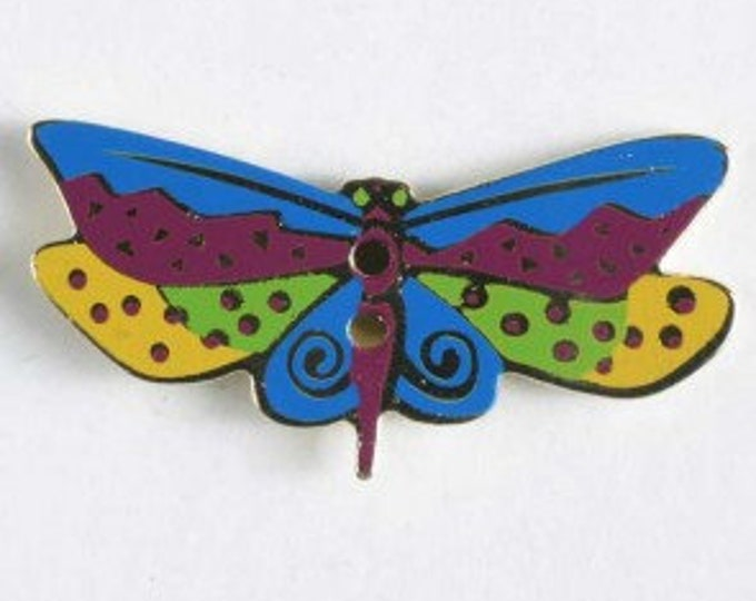 Laurel Burch Enamel 2 Hole Dragonfly Buttons.