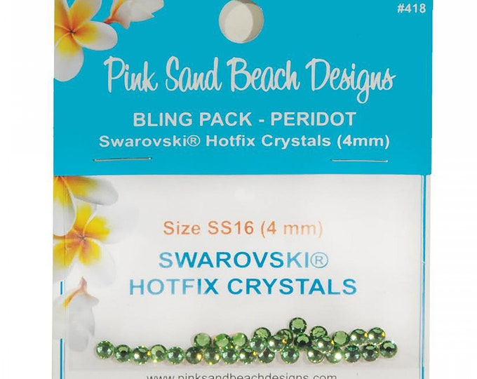 Pink Sand Beach Designs Bling Pack - Peridot SS16/4mm