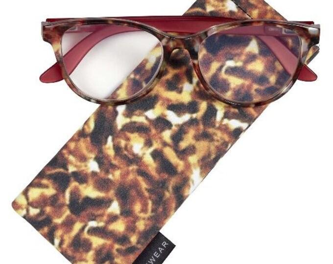 Gardena Orange Reading Glasses Magnifier, Reader +3.00 I Heart Eyewear
