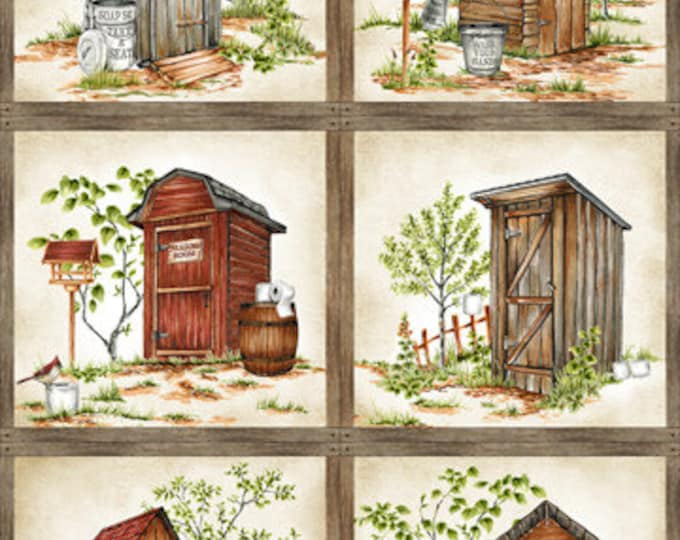 "Nature's Calling by Northcott  - 6 pane Panel  24"" 100% cotton (#20)"