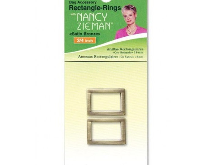 3/4″ Retangle-Rings – Satin Bronze Clover 2pk