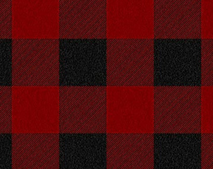 """FLANNEL West Creak Wovens Red & Black by Northcott W23907-24   44"""" wide 100% Cotton Fabric"""