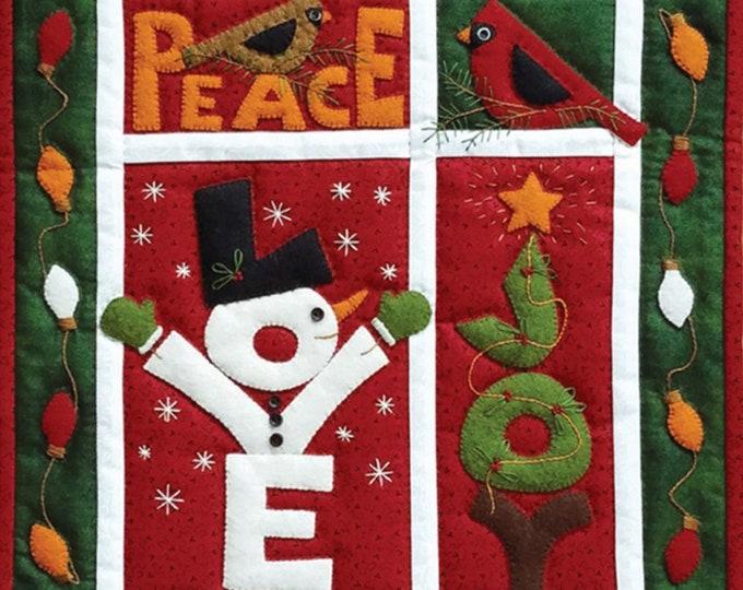 Love Joy Peace Wall Quilt Kit 100% cotton