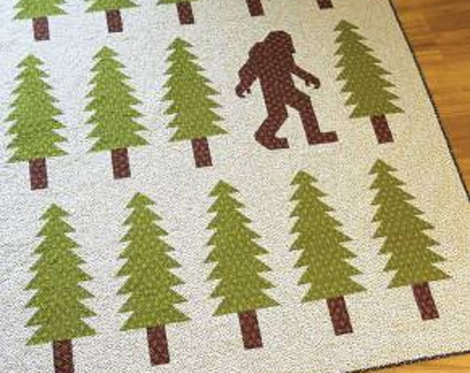 Elizabeth Hartman Legendary Quilt Pattern Only Bigfoot