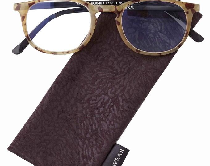 Larkspur Black Reading Glasses Magnifier, Reader +2.75 I Heart Eyewear