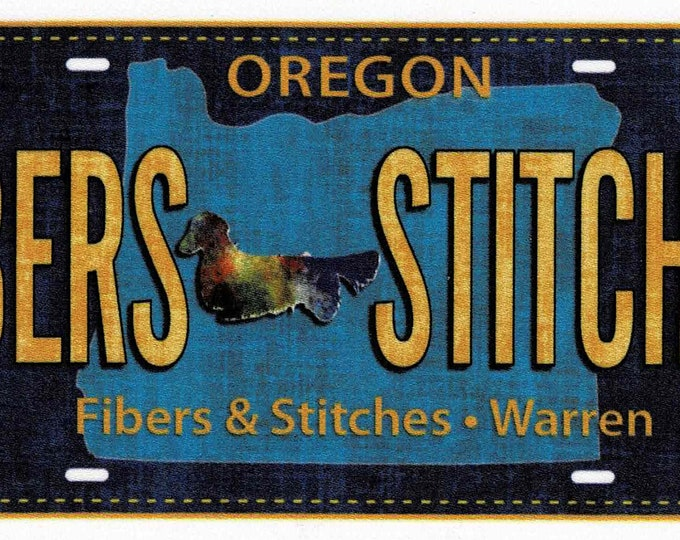 2016 Row by Row Fabric License Plate *Fibers Stitches*