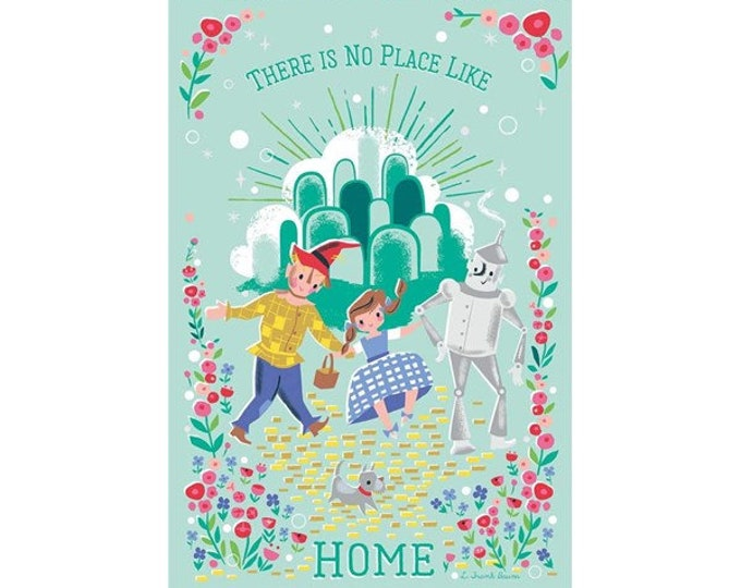 """Dorothy's Home Panel by Riley Blake 24"""" Panel 100% cotton 44/45"""" wide fabric (#4)"""