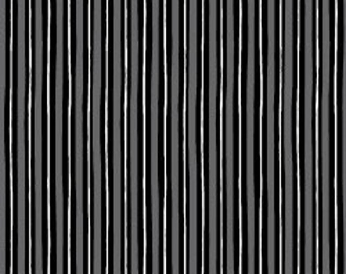 "Kimberbell Basic Black and White Stripe by Maywood Studio  S8242-KJ 44"" wide 100% Cotton Fabric"