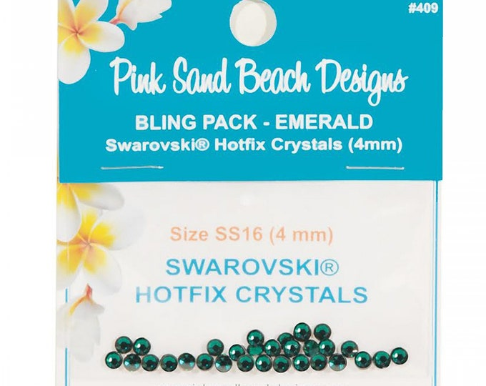 Pink Sand Beach Designs Bling Pack - Emerald SS16/4mm