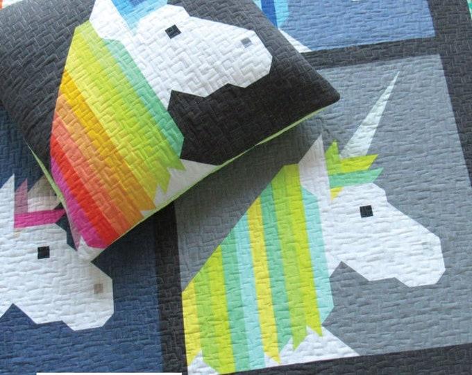 Elizabeth Hartman Lisa the Unicorn Quilt & Pillow Quilt Pattern Only