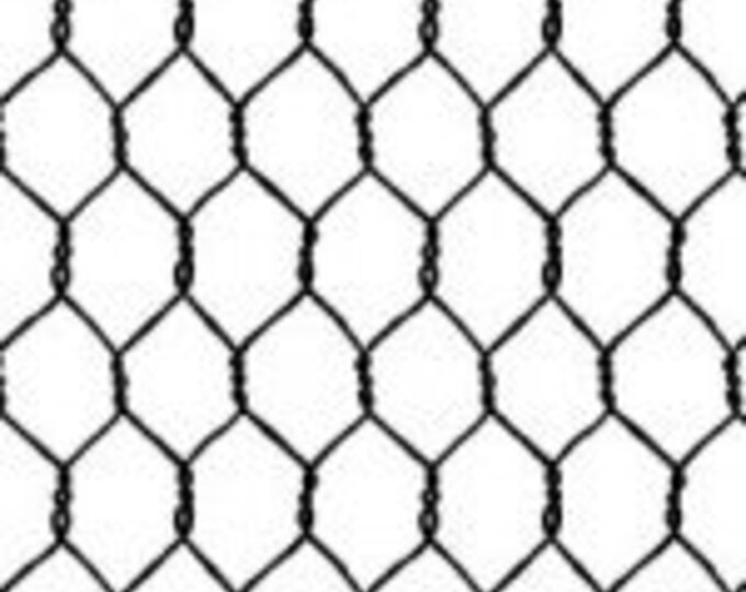 """Wired Chicken Fence White Michael Miller 100% cotton 44/45"""" wide fabric"""