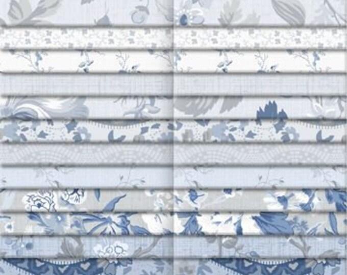 "Indigo Garden By Wilmington Prints  - 40  2.5"" strips 100% cotton"