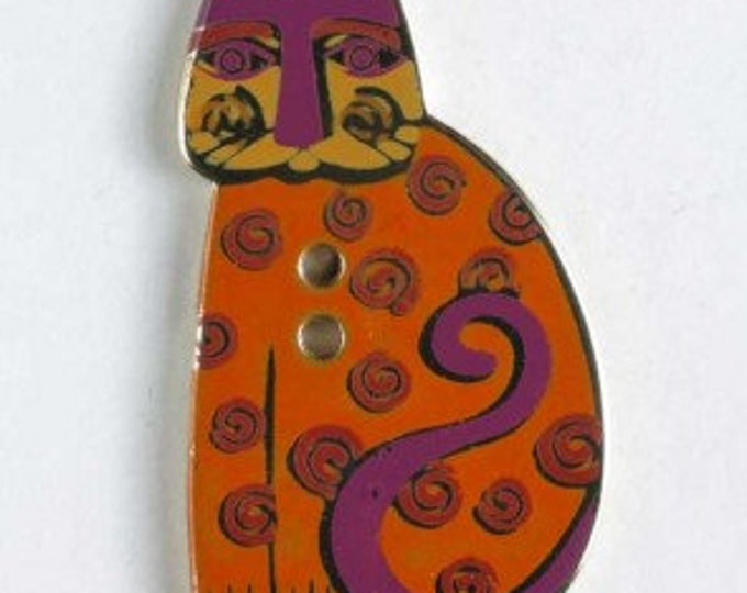 Laurel Burch Enamel 2 Hole Cat Buttons.