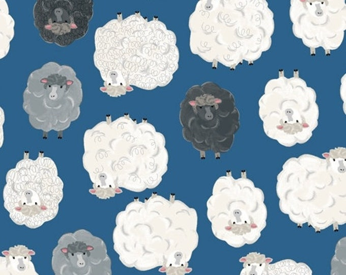 "State Fair 51861-1 Blue Sheep From Windham Fabrics 44"" Wide 100% cotton"