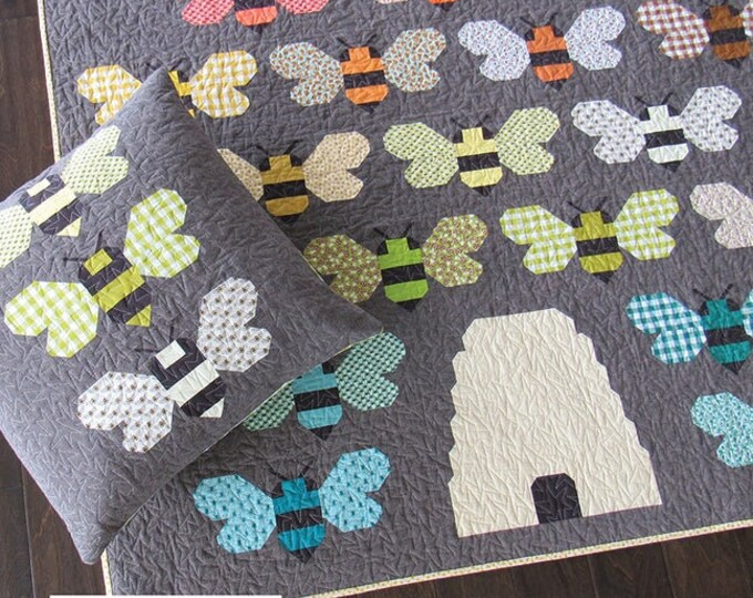 Elizabeth Hartman Beehive Quilt & Pillow Pattern Only EH-044