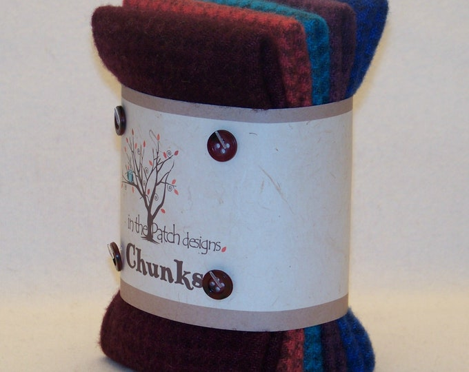 Chunks 5 piece Bundle In The Patch Designs Jewel 100% Wool