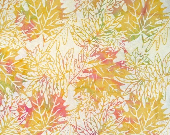 "Cupcake by Princess Mirah Batiks Leaves  100% Cotton 44/45"" Wide Fabric"