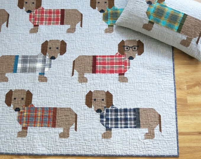 Elizabeth Hartman Dogs In Sweaters Quilt Pattern Only