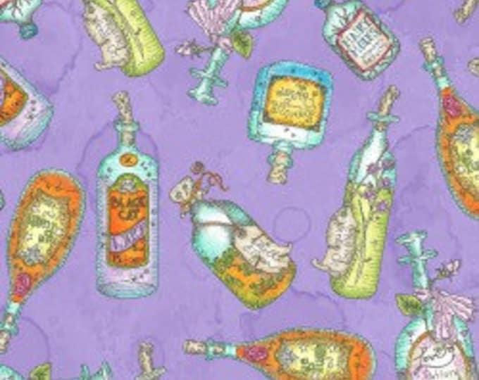 "Salem Quilt Show Potion Bottle Violet by Meg Hawkey for Maywoood  100% Cotton 44/45"" Wide Fabrics"