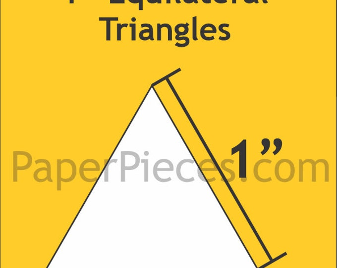 """Paper Pieces 1"""" Equilateral Triangle 100 Pieces TRI100"""