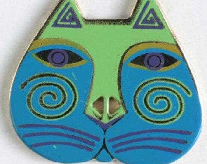 Laurel Burch Enamel 2 Hole Cat Head Buttons.