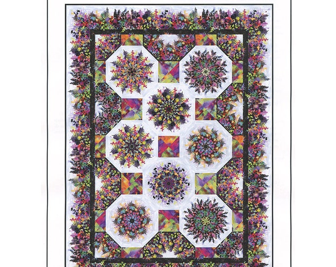 One-Fabric Kaleidoscope Quilt  by Jason Yenter featuring Urban Jungle  *Pattern Only*