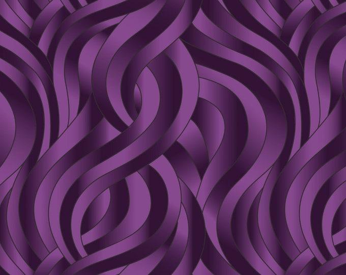 "Reflections Dark Purple Swirls  by Lewis and Irene Ltd  105425 44"" wide 100% Cotton Fabric"