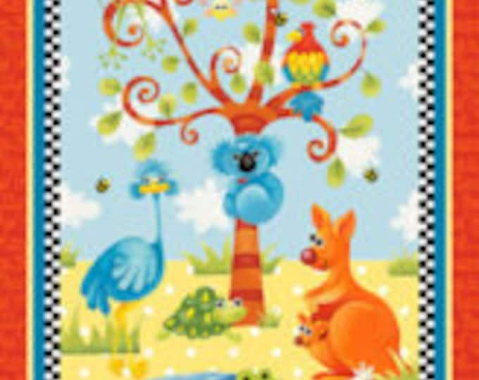 "Henry Glass - Aussie Mates  6472P-88 24"" Panel 100% cotton (#28)"
