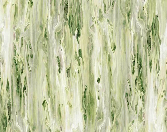 "Fluidity Green Flui 4137 g P&B Textiles 100% cotton 44/45"" wide fabric"