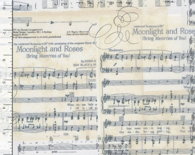 """Sheet Music by Timeless Treasures  Antique    44"""" Wide 100% Cotton"""