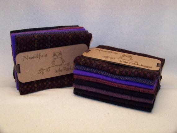Needfuls Wool 8 piece Bundle In The Patch Designs Purple Rain 100% Wool