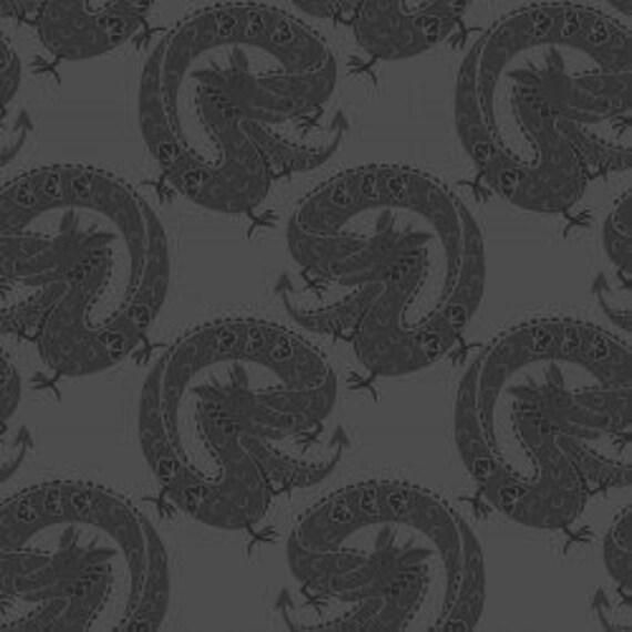 "Lewis & Irene LTD - Minshan Leia 117-3 Grey 100% cotton 44/45"" wide fabric"