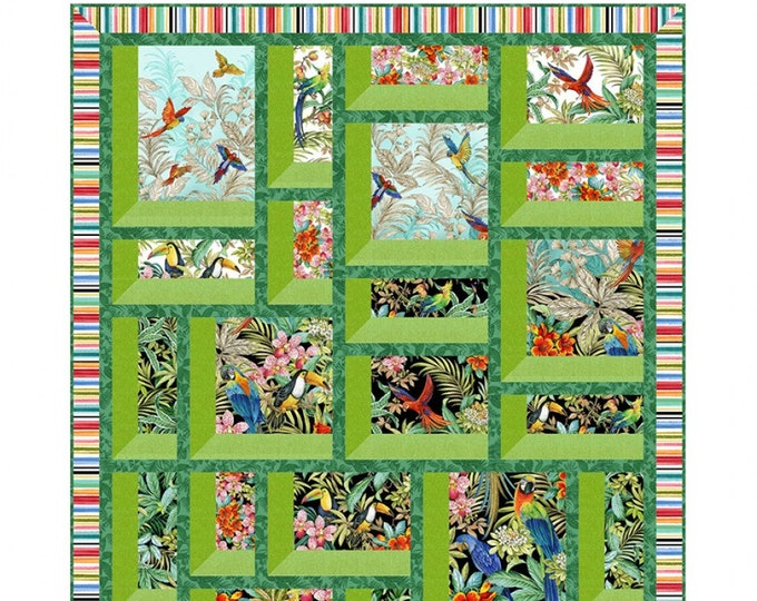 Exotic Windows Quilt. No Y Seams. 47x59. Pattern Only