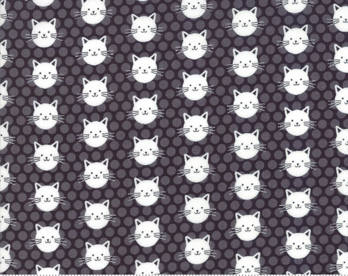"""Midnight Magic by April Rosenthal for Moda 24083-14 Cats  44"""" Wide 100% Cotton"""