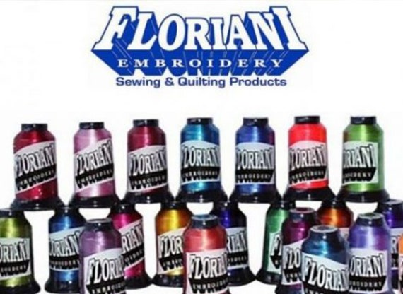 Floriani 40wt Embroidery Thread, 1,100 Yards Spools, 100% Polyester. Colors number PF783-PF4845 Group E