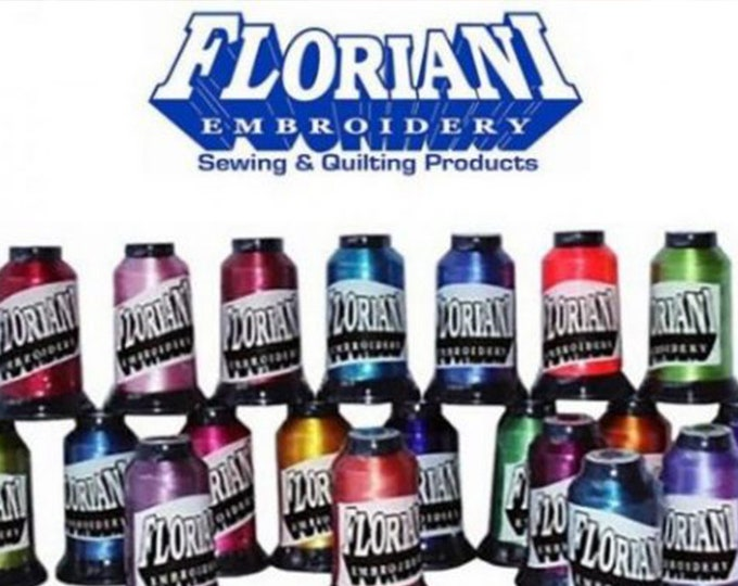 Floriani 40wt Embroidery Thread, 1,100 Yards Spools, 100% Polyester. Colors number PF198 - PF354 Group B