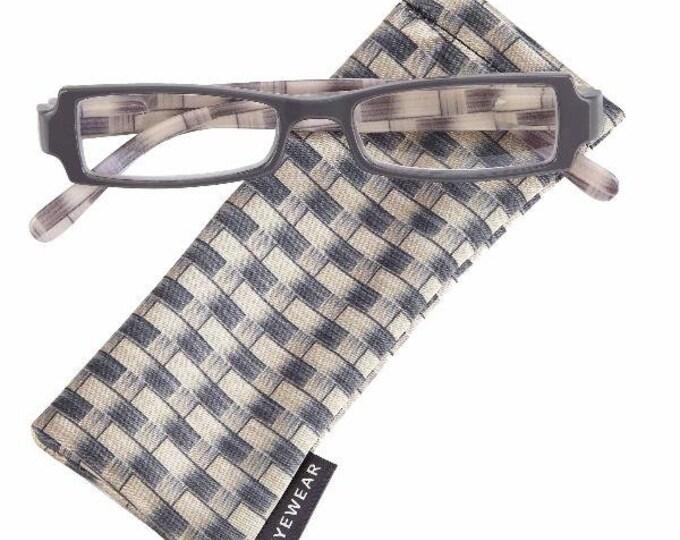 Amherst Gray Reading Glasses Magnifier, Reader +1.50 I Heart Eyewear