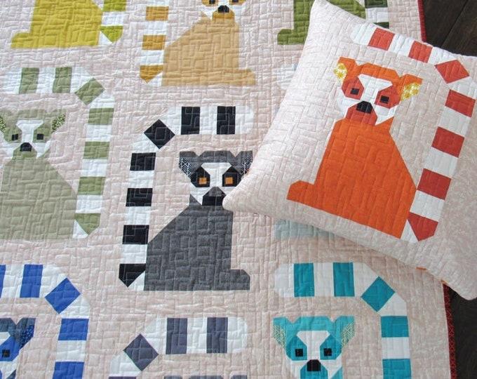 Elizabeth Hartman Lana Lemur Quilt & Pillow Pattern Only