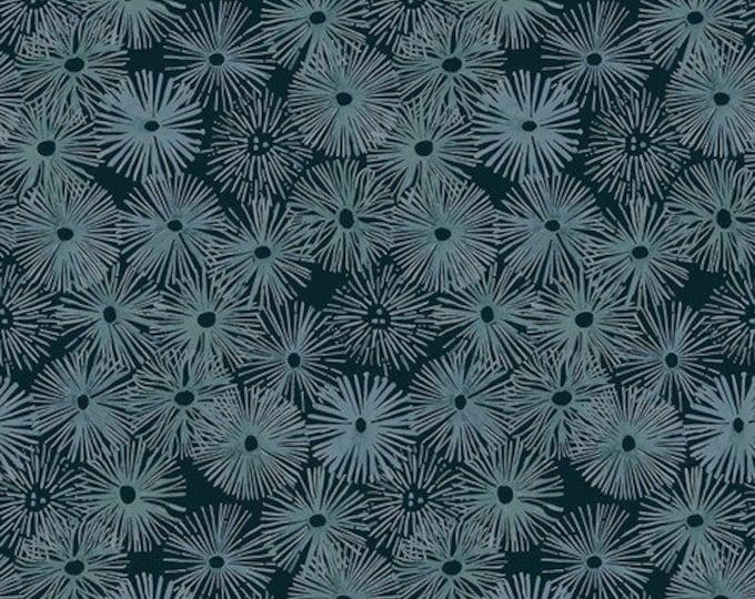 """Free Spirit Time & Tide Urchin Depths Shell Rummel pwsr043.depths 44"""" Wide 100% Cotton"""