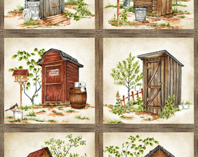 """Nature's Calling by Northcott  - 6 pane Panel  24"""" 100% cotton (#20)"""