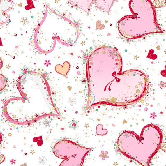 """With Love by QT Fabrics   44"""" wide 100% Cotton Fabric"""